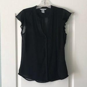 H&M semi-sheer black blouse